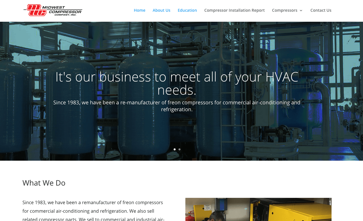 InUnison Integrated Systems | Cleveland Web Development | midwest compressor | Cleveland Area Web Services